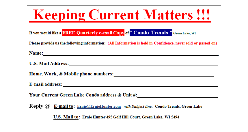 Condo Trends - Email Us!